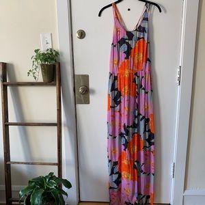 Loft Floral Summer Maxi Dress
